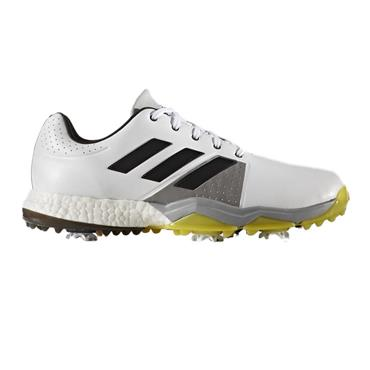 adidas Gents Adipower Boost 3 Golf Shoes Wide Fit White - Carbon - Vivid Yellow