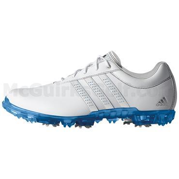 save off 3d5ff b7df6 adidas Gents Adipure Flex Golf Shoes White - Blue ...