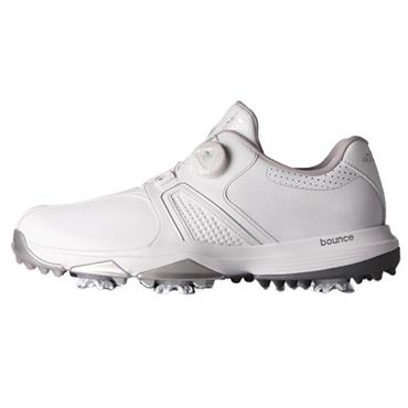 adidas Gents 360 Traxion Boa Wide Golf Shoes White - Silver Metallic