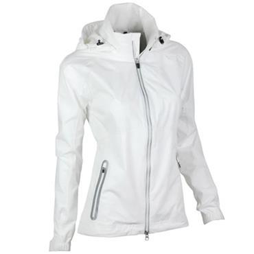 Zero Restriction Ladies Olivia Hooded Waterproof Jacket White