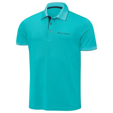 Galvin Green Gents Marty Tour Ventil8+ Polo Shirt Bluebird - Black