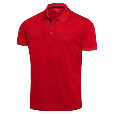Galvin Green Gents Marty Tour Ventil8+ Polo Shirt Red - Black