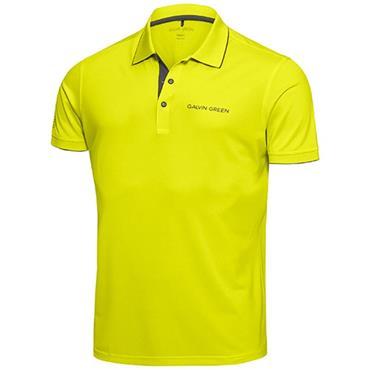 Galvin Green Gents Marty Tour Ventil8+ Polo Shirt Lemonade - Beluga