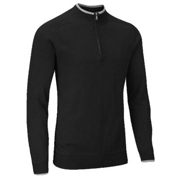 Stuburt Gents Vapour Half Zip Lined Sweater Black