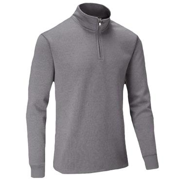 Stuburt Gents Endurance Sport Zip Neck Performance Sweater Grey - Marl