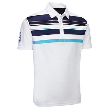 Stuburt Gents Endurance Block Stripe Polo Shirt White