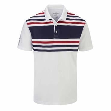 Stuburt Gents Evolve Pure Stripe Polo Shirt White - Midnight