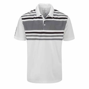Stuburt Gents Evolve Pure Stripe Polo Shirt White - Storm