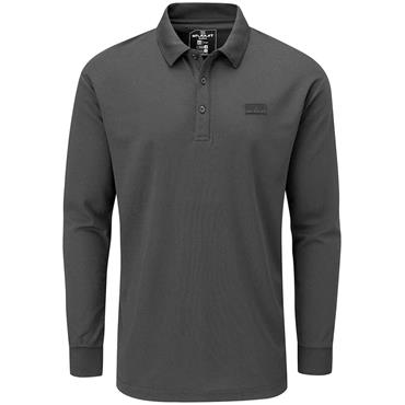 Stuburt Gents Active Long Sleeve Polo Shirt Black