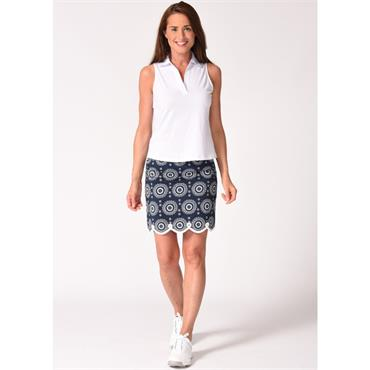 Golftini Ladies Jump Rope Pull On Skort Navy - Black - White