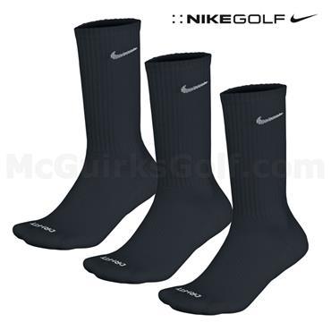 Nike Gents DriFit 3 Pack Crew Socks Black
