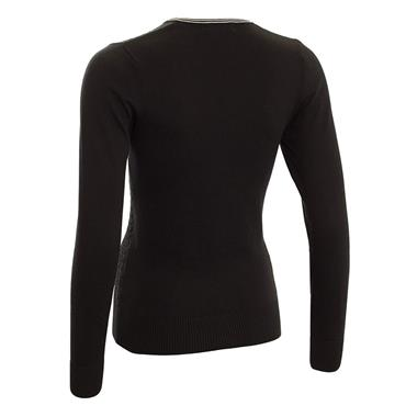 Green Lamb Ladies Brid Cable Sweater Black - White