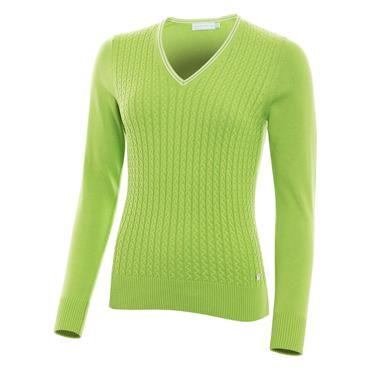 Green Lamb Ladies Brid Cable Sweater Greenery