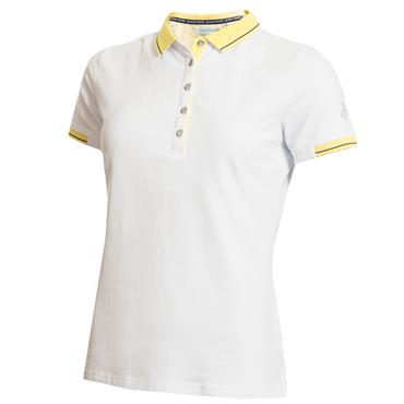 Green Lamb Paige Jersey Club Polo White - Sun
