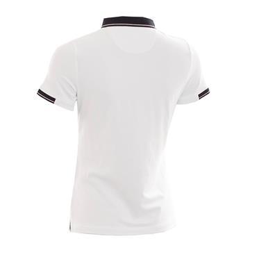 Green Lamb Ladies Paige Jersey Club Polo Shirt White - Black