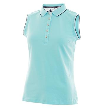 Green Lamb Ladies Pam Jersey Club Sleeveless Polo Capri