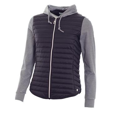 Green Lamb Ladies Josie Padded Hooded Jacket Navy
