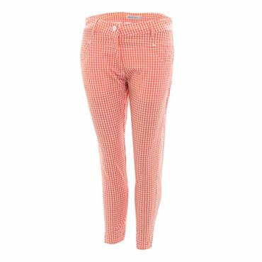 Green Lamb Ladies Trina Pattern Cropped Trousers Coral - White