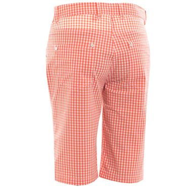 Green Lamb Ladies Talia Patterned Bermudas Coral - White