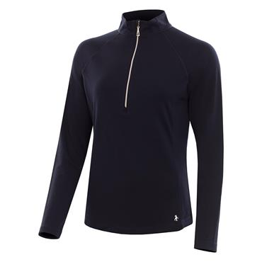 Green Lamb Ladies Lilian Tech Mid Layer Top Navy