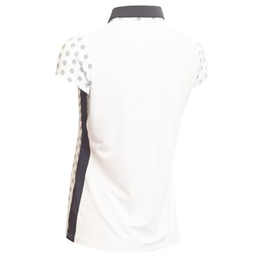 Green Lamb Eileen Printed Sleeve Polo White - Navy