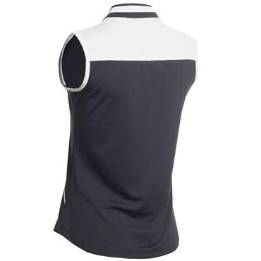 Green Lamb Eilis Sleeveless Zip Neck Polo Navy - White