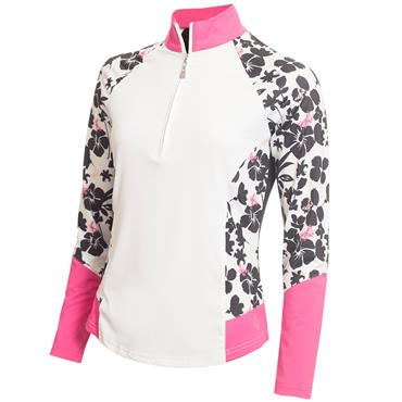 Green Lamb Flory Long Sleeve Print Top White - Orchid