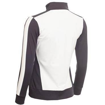 Green Lamb Freddie Long Sleeve Zipped Top White - Navy