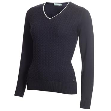 Green Lamb Gerda Cable Sweater Navy