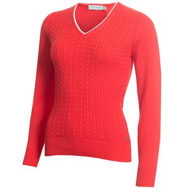 Green Lamb Gerda Cable Sweater Red