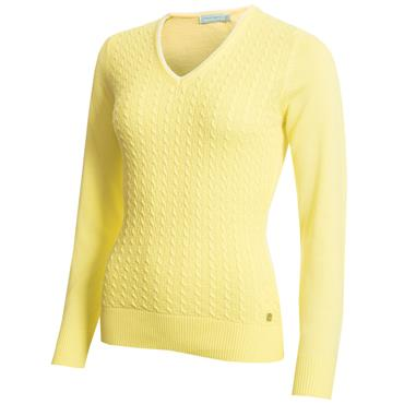 Green Lamb Gerda Cable Sweater Sunshine