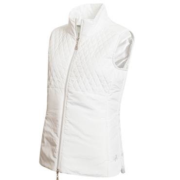 Green Lamb Karen Padded Gilet White