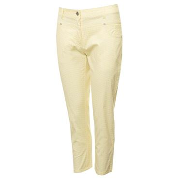 Green Lamb Ladies Mandy Printed Crop Trousers Honeycomb