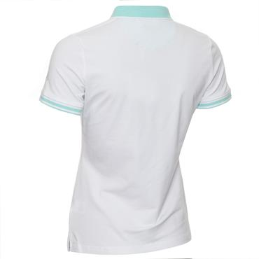 Green Lamb Ladies Ella Club Polo Shirt White - Opal