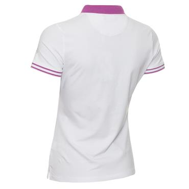 Green Lamb Ladies Ella Club Polo Shirt White - Violet