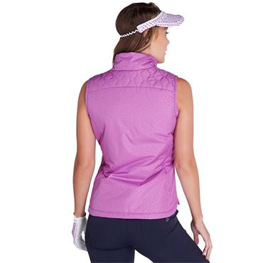Green Lamb Ladies Khloe Quilted Panel Gilet Violet