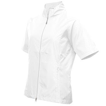 Green Lamb Ladies Kelsy Raglan ½ Sleeve Windbreaker White