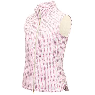 Green Lamb Ladies Kathleen Quilted Printed Gilet Hexagon