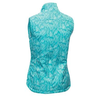 Green Lamb Ladies Kathleen Quilted Printed Gilet Palm