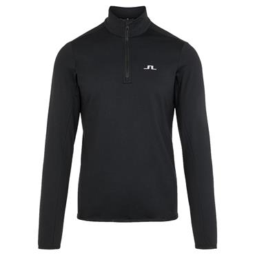 J.Lindeberg Gents Kimball Quarter Zip Midlayer Sweater Black