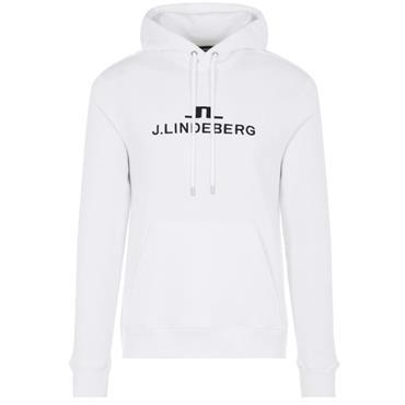 J.Lindeberg Gents Alpha Hooded Top White