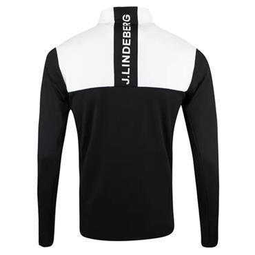J.Lindeberg Gents Banks Zipped Mid Layer Black - White