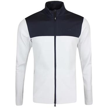J.Lindeberg Gents Banks Zipped Mid Layer White - Navy