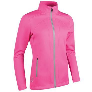 Sunderland Ladies Nova Zip Front Fleece Jacket Pink - Silver