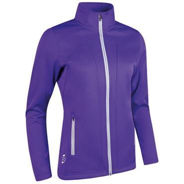 Sunderland Ladies Nova Zip Front Fleece Jacket Purple - Silver