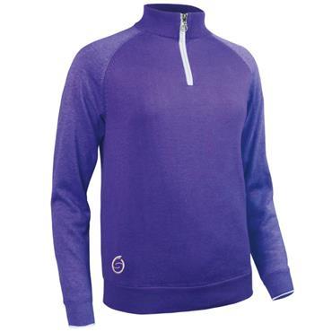Sunderland Ladies Zonda 1/4 Zip Lined Sweater Purple - Marl - White