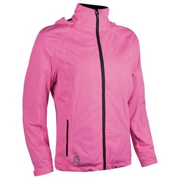 Sunderland Ladies Whisperdry Contour Waterproof Jacket Pink - White
