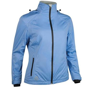Sunderland Ladies Whisperdry Contour Waterproof Jacket Ice Blue - White