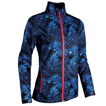 Sunderland Ladies Tech-Lite Waterproof Jacket Navy Tropic Print