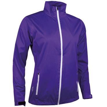 Sunderland Ladies Tech-Lite Waterproof Jacket Purple - White